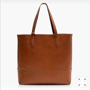 J.Crew Brown Leather Downing Tote and Wallet